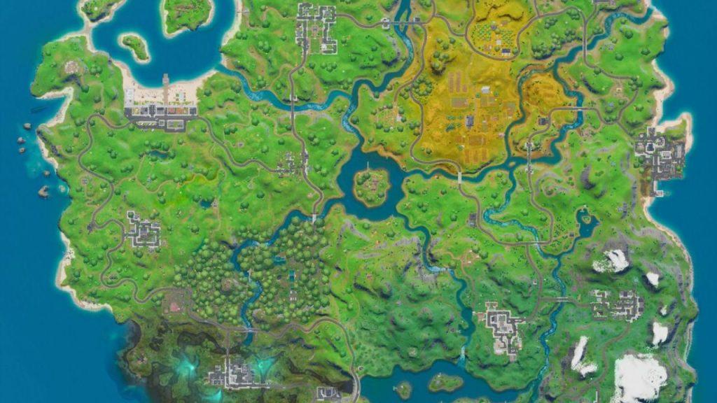 نقشه بازی در بازی رایگان Fortnite